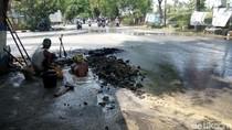 Pipa Utama Bocor, Saluran PDAM di Dua Kecamatan Lamongan Mampet