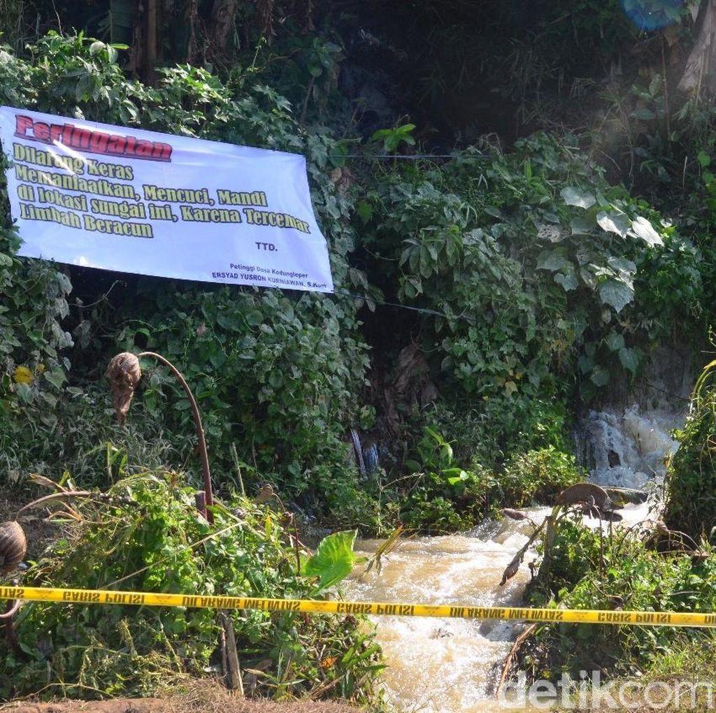 Ada Spanduk Larangan Pakai Air Sungai Lokasi Gelembung Busa di Jepara