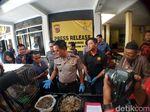 Polresta Sukabumi Gagalkan Penjualan Daging dan Sisik Trenggiling