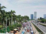 Ada Aksi Tolak Perppu Ormas di DPR, Lalin Macet