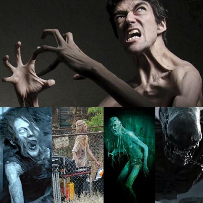 Botet dan beberapa tokoh monster yang pernah ia perankan. (Foto: Instagram)