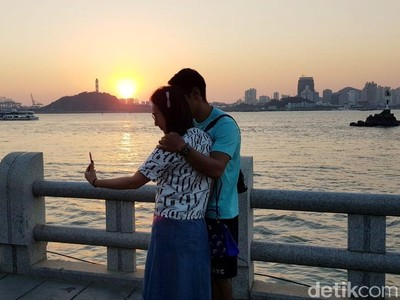 Foto: Pulau Penuh Cinta di China