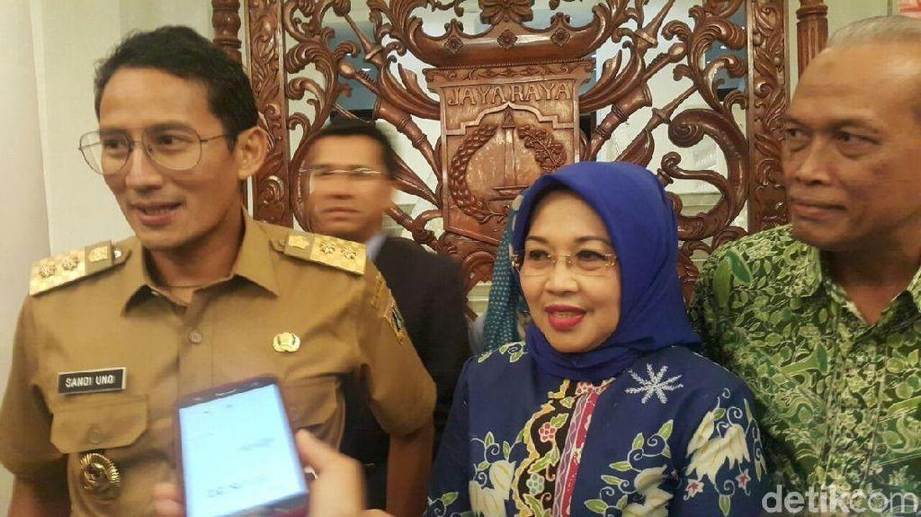 Sylviana Murni ke Balai Kota, Sandiaga: Welcome Home