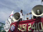 Aksi di Depan DPR, Orator: Talak 3 bagi Parpol Dukung Perppu Ormas