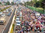 Ada Demo Tolak Perppu Ormas, Exit Tol Senayan Ditutup Sore Ini