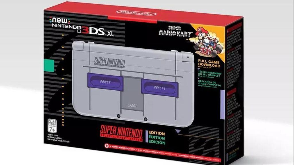 Unik! 3DS XL Bergaya klasik ala SNES