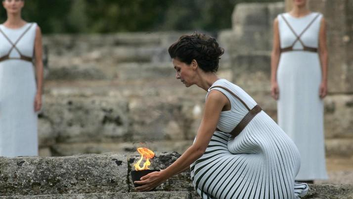 Nyala Pertama Api Obor Olimpiade Musim Dingin 2018