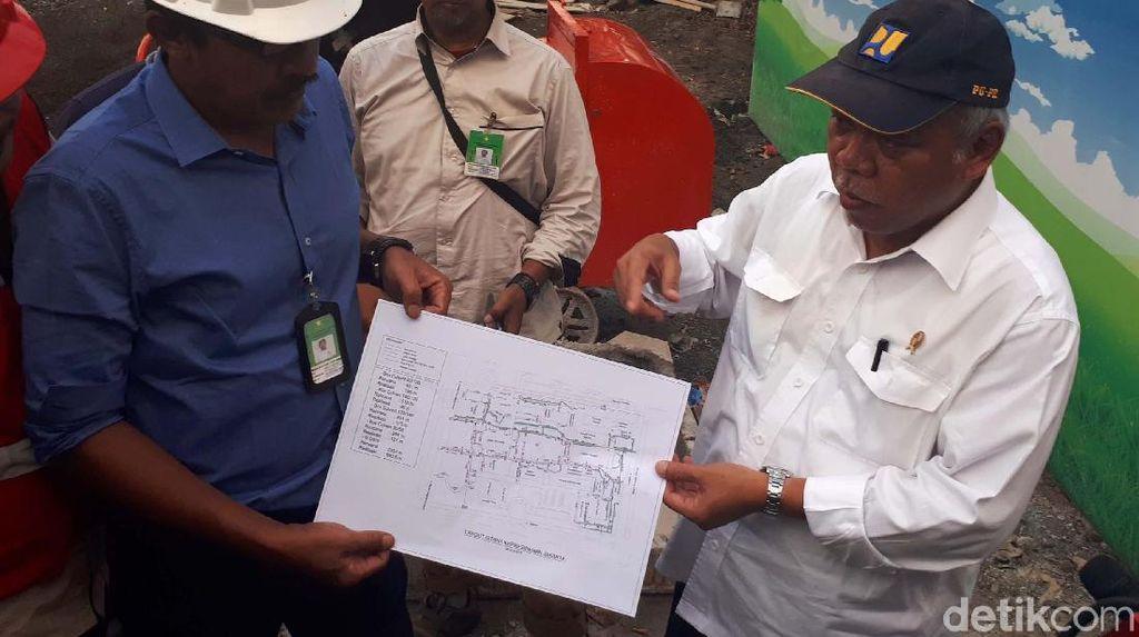 Yuk Lihat Proyek Drainase Istana yang Disidak Menteri PUPR