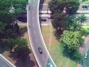 Uji Nyali, Pemotor Ini Lawan Arus di Simpang Susun Semanggi