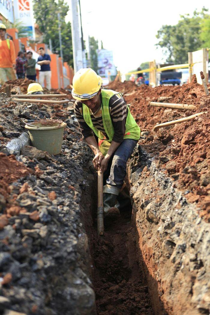 lustrasi Pekerja Proyek Pipa Distribusi Gas Bumi (Foto: Dok PGN)