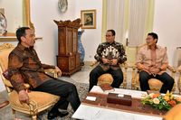 Presiden Jokowi, Gubernur Jakarta Anies, dan Wagub Jakarta Sandiaga