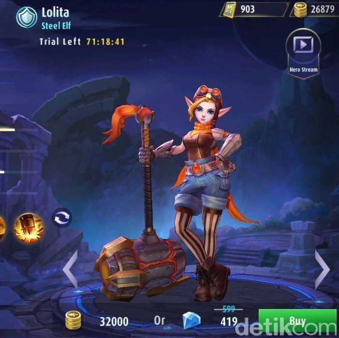 Lolita di Mobile Legends. Foto: screenshot detikINET