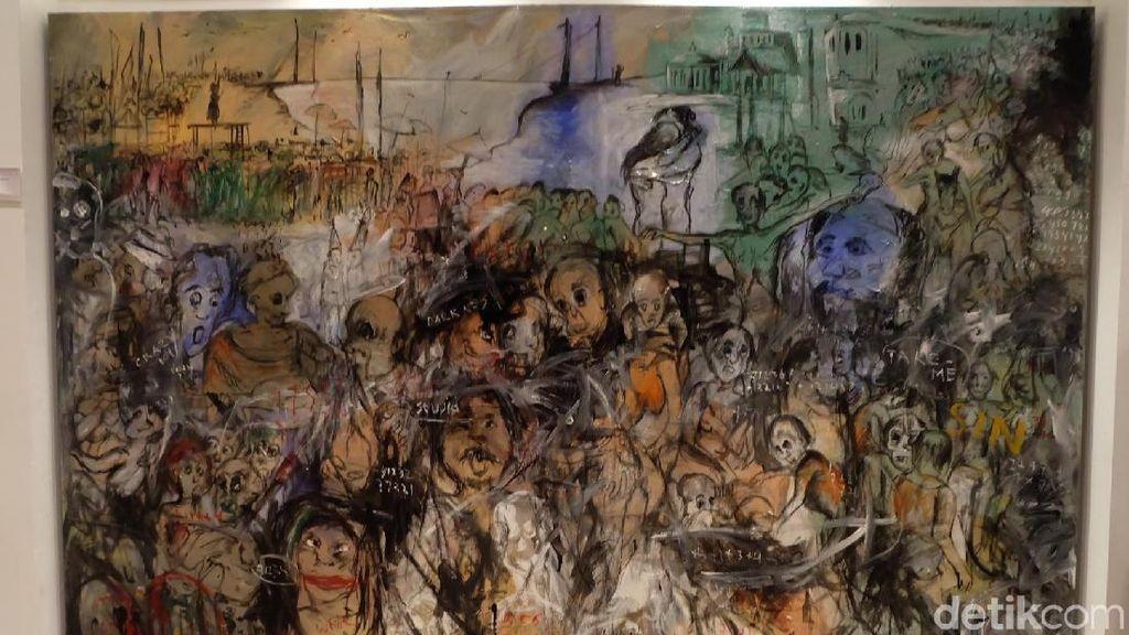 Lukisan Kegelapan Kukuh Nuswantoro Ceritakan Surga, Neraka, dan Dunia
