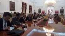 Ditemui Eks PM Jepang, Jokowi: Selamat atas Suksesnya Pemilu di Sana