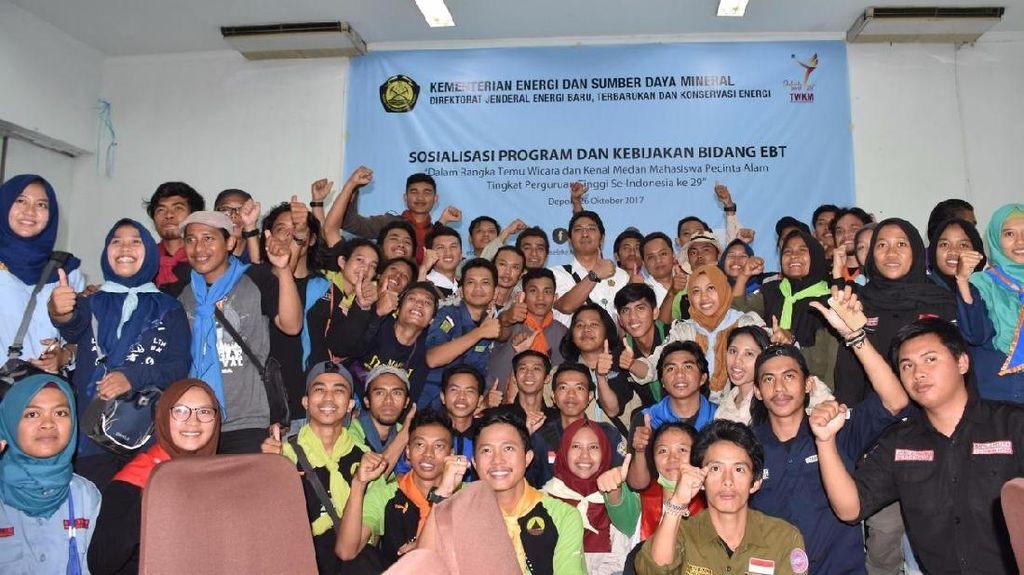 Kenalkan Energi Terbarukan, ESDM Gandeng Mahasiswa Pecinta Alam