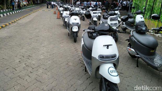 Motor listrik Viar Q1 yang akan ikut konvoi