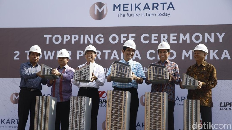Dihadiri Luhut, Lippo Lakukan Topping Off 2 Tower Meikarta