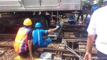 Gerbong Anjlok di Jatinegara, KRL dari Senen Tak Bisa Melintas