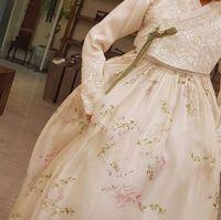 Hanbok yang diduga akan dipakai Song Hye Kyo untuk resepsi pernikahan.