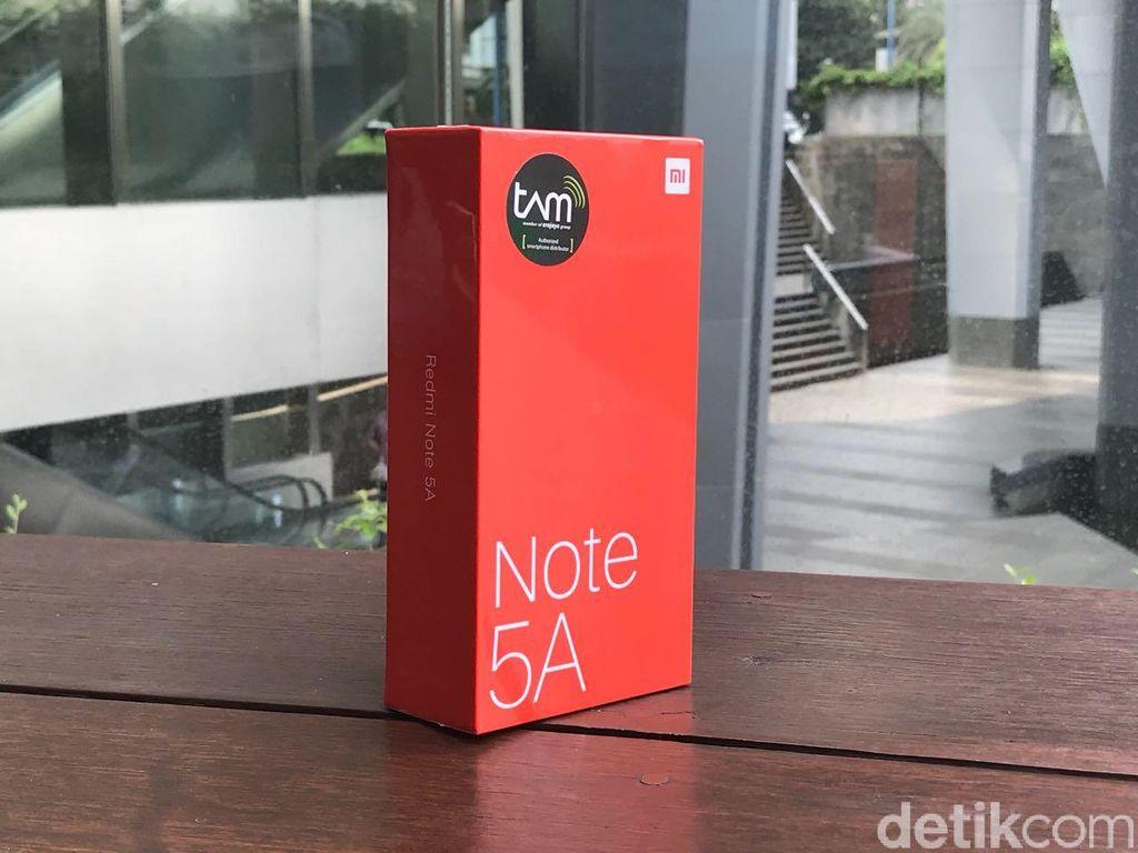 Ponsel anyar Xiaomi bernama Redmi Note 5A. Foto: detikINET/Adi Fida Rahman