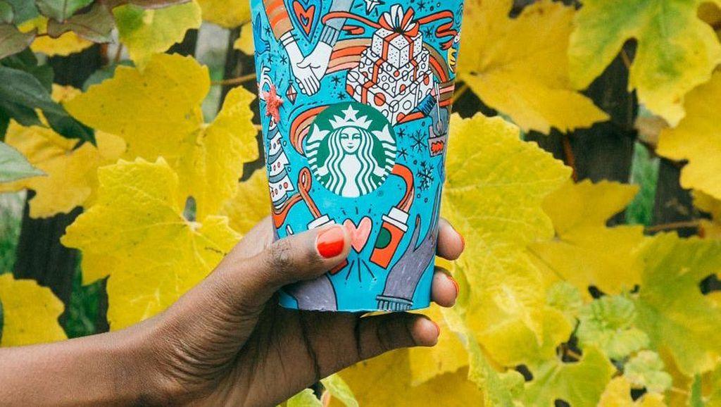 Ini Nih Desain Holiday Cups Starbucks Terbaru yang Bisa Diwarnai