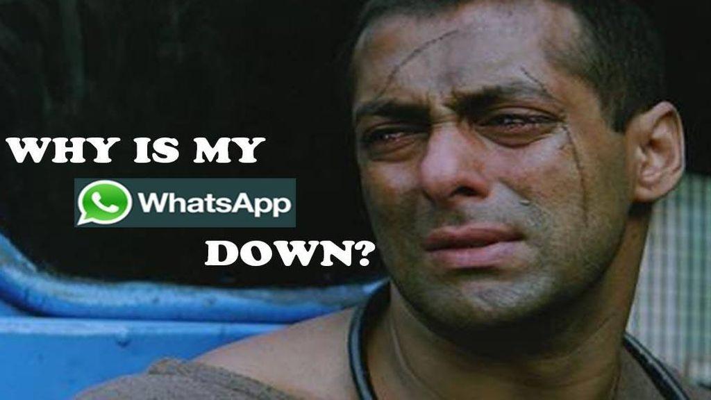 Sempat Tumbang, Meme Kocak #Whatsappdown Bertebaran