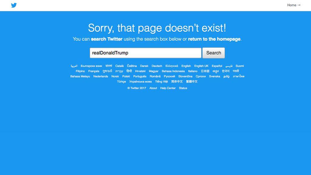 Ups! Twitter Sempat Hapus Akun Donald Trump
