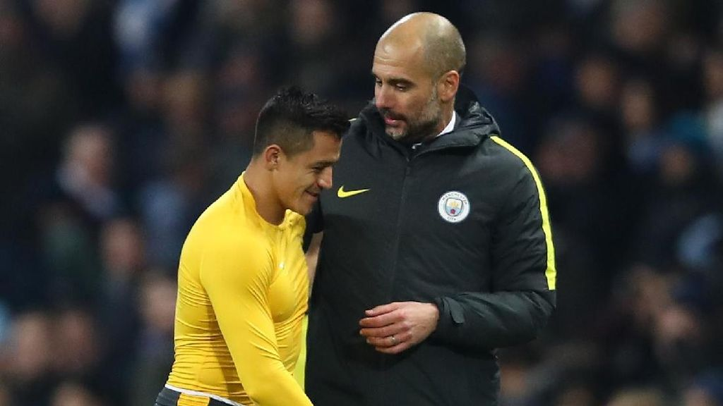 Jelang Lawan Arsenal, Guardiola Tak Mau Lagi Bahas Transfer Sanchez