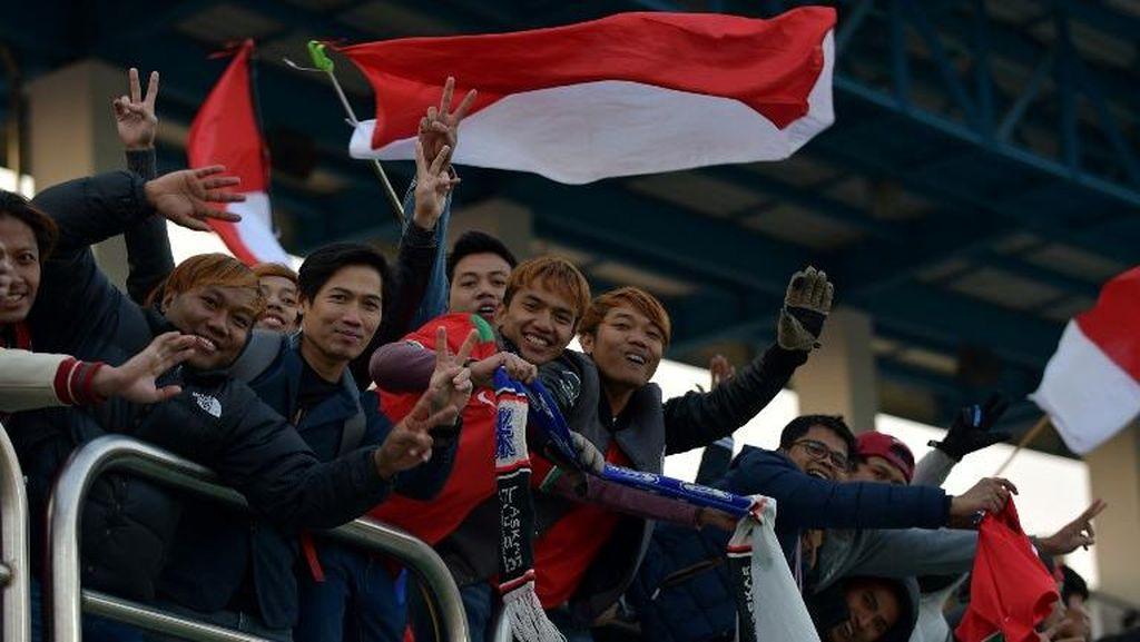Tribune Dipenuhi Suporter Indonesia, Korsel Sempat Terusik
