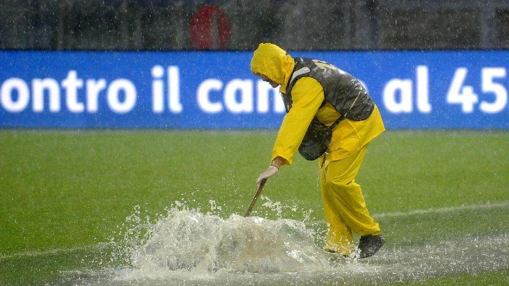 Hujan Deras dan Genangan Air Bikin Lazio vs Udinese Ditunda