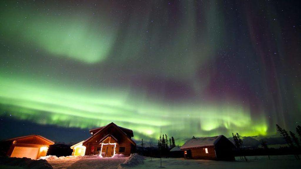 Foto: Greget! 7 Hotel Ini Pemandangannya Langit Aurora