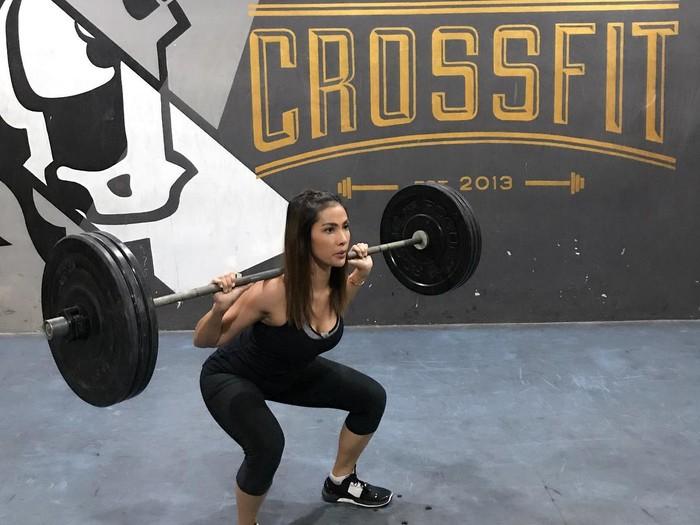 Nadia mulya cinta mati dengan olahraga crossfit. Foto: Instagram/Nadia Mulya