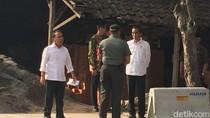 Bareng Gibran, Jokowi Pantau Simulasi Kirab Pernikahan Kahiyang