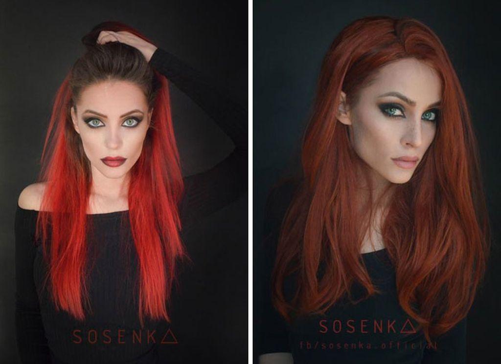 Dia adalah Justyna Sosnowska atau dikenal dengan sosenka, lewat akun instagramnya @itlookslikekilled ia membagikan foto makeup cosplay berbagai karakter animasi. Hasilnya pun keren dan mirip banget. (Foto: Instagram)