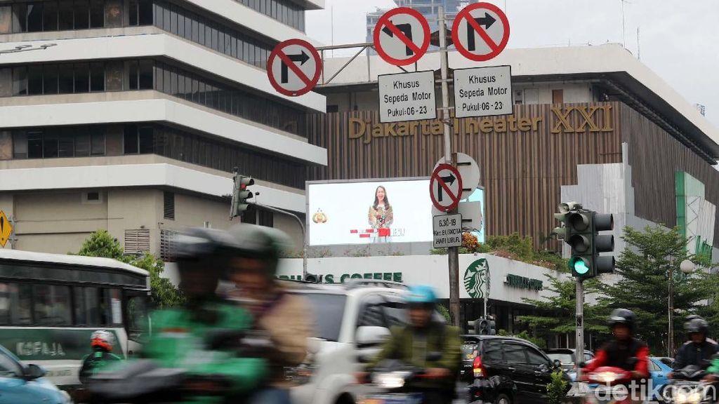Perjalanan Larangan Motor Lewat di Jl Thamrin Hingga Dibatalkan MA