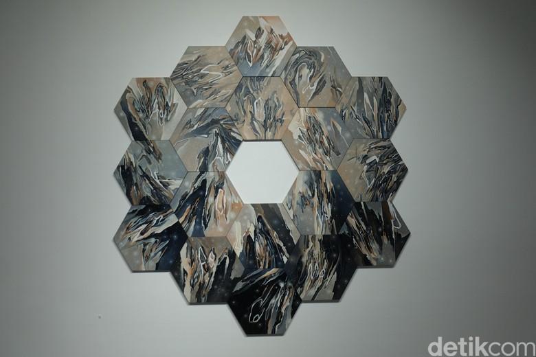 Lukisan Radhinal Indra Tercipta dari James Webb Space Telescop NASA