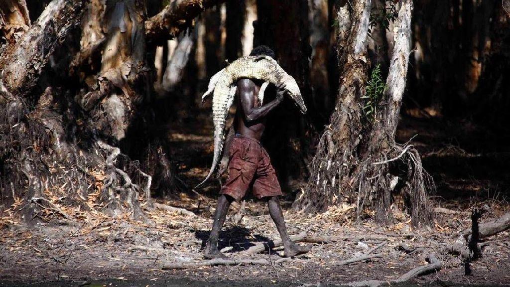 Foto: Beginilah Suku Aborigin Berburu Buaya