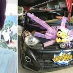 Bukan Mobil Mewah, Wanita Ini Bangga Pakai Mobil Pengantin Ayla