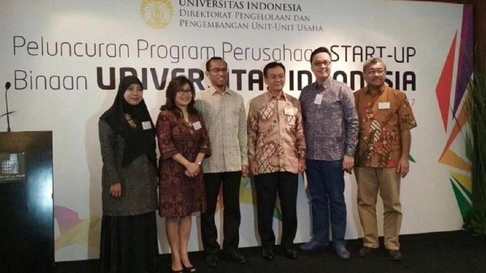 Peluncuran program Perusahaan Startup Binaan. Foto: UI