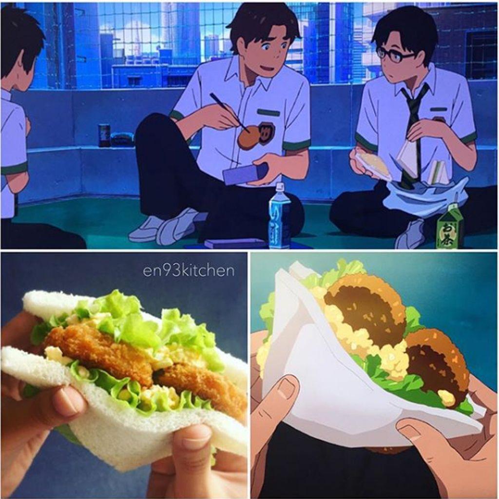 Adalah en93kitchen, seorang pengguna Intagram dari Jepang yang menciptakan makanan dari anime Studio Ghibli. Foto: Instagram
