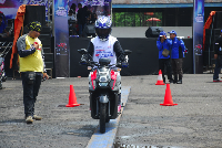 All New X-Ride 125 digunakan di final nasional Yamaha Goes to School Safety Riding Competition (Foto: dok Yamaha Indonesia)
