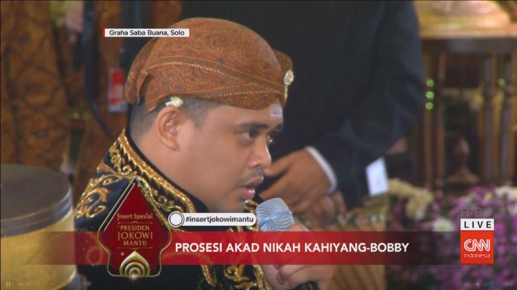 Tatapan Mata Bobby Nasution ke Jokowi Saat Ijab Kabul