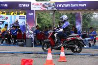 New Fino Tubeless & Ban Lebar digunakan di final nasional Yamaha Goes to School Safety Riding Competition (Foto: dok Yamaha Indonesia)