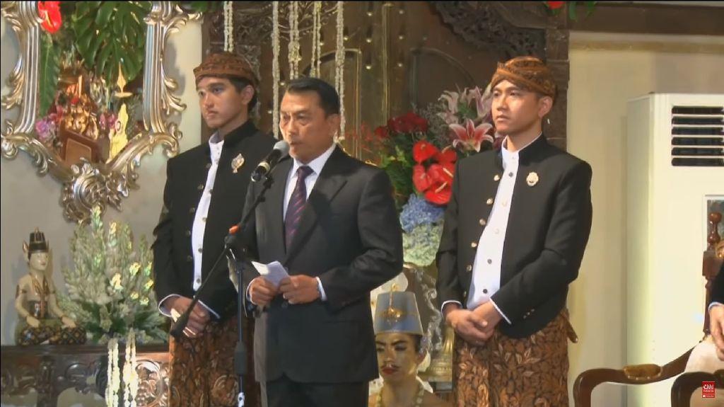 Sambutan Wakili Keluarga Jokowi, Moeldoko: Alam Ikut Bergembira