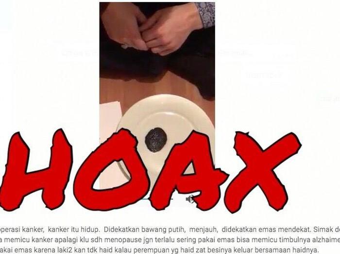Berita potongan kanker yang menjauhi bawang putih adalah hoax. Foto: Viral