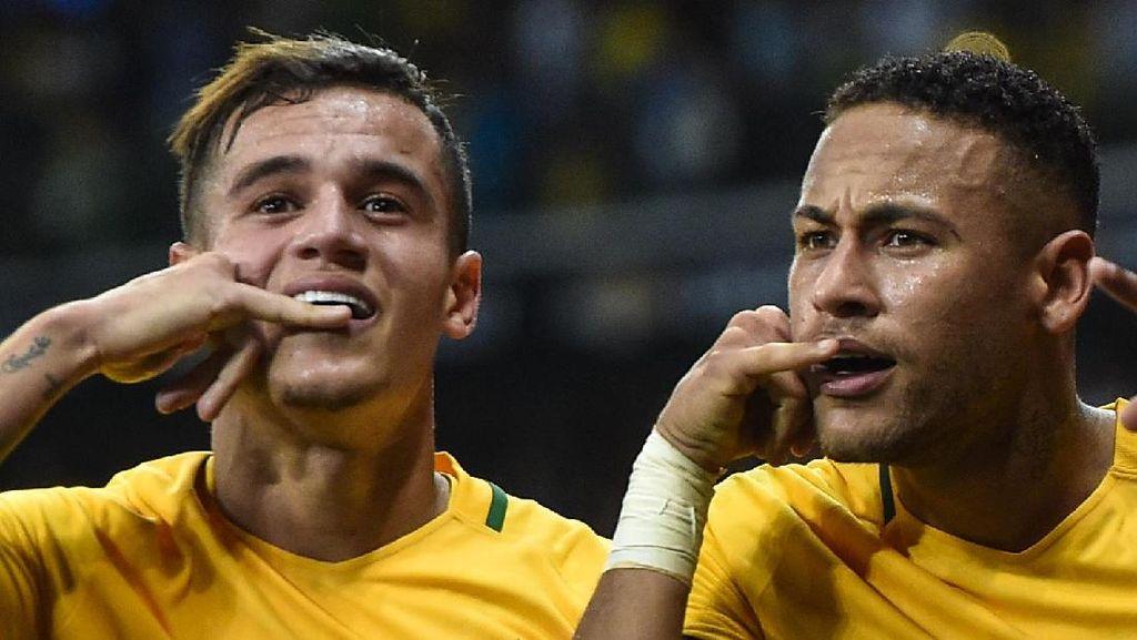 Ada Rumor Neymar Ikut Bujuk Coutinho agar Mau ke PSG