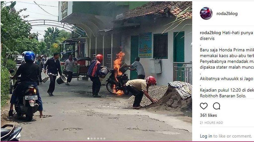 Honda: Motor Bisa Saja Terbakar kalau Jarang Diservis