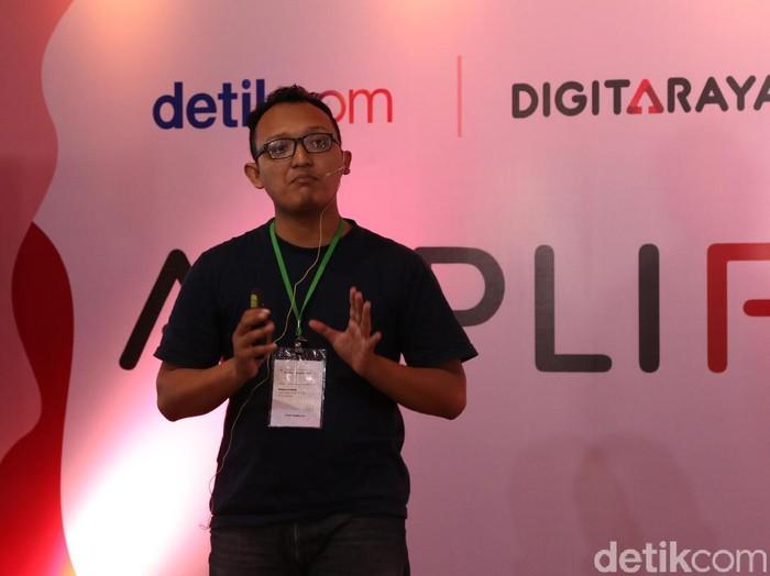 Reanes Putra Tito M., founder startup Sampah Muda. Foto: Josina/detikINET