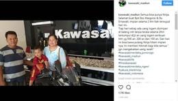 Nabung Dua Tahun, Keluarga Ini Beli Motor Ninja Pakai Uang Receh