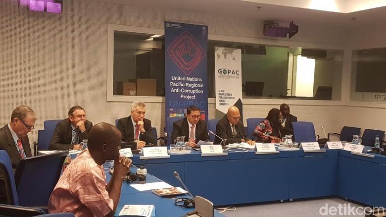 Di Forum Fadli Tanpa Pengawasan - Wina Wakil Ketua DPR Fadli Zon hari ini menjadi pembicara utama dalam Forum Parlemen di Markas PBB di